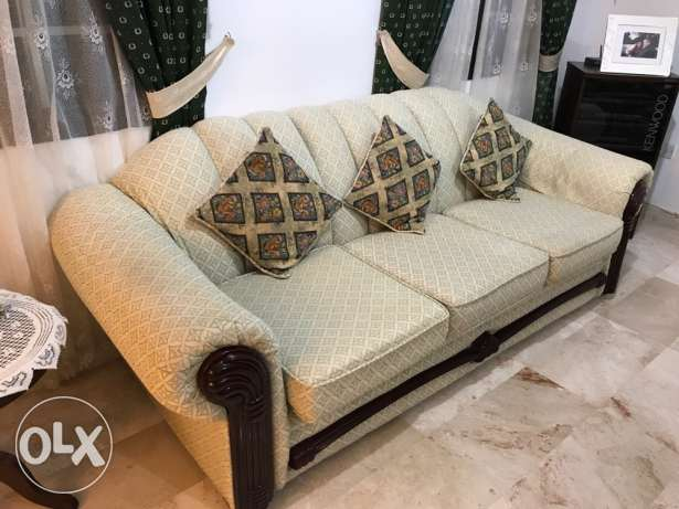 seven seater sofa set with cushions