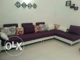 L shape sofa in excellent condition bought from homes r us