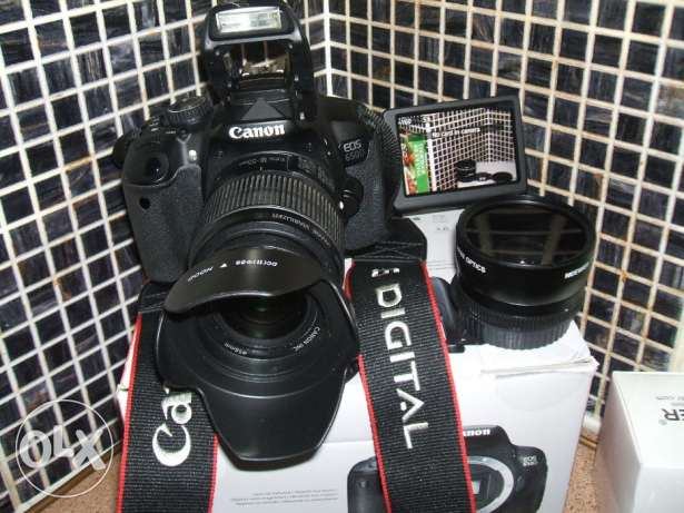 Canon EOS 650d with Three Lenses for Portrait, wide angle, and Macro