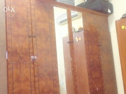 wooden wardrobe , 3 doors in good condition. for sale
