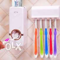 automatic toothpaste dispenser with tooth brush holder