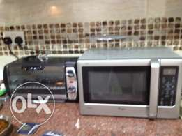 Microwave - steel finish- priced for quick sale