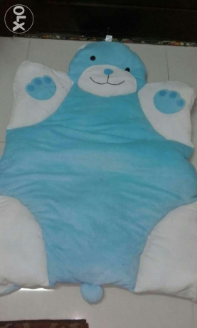 blue baby floor cushion