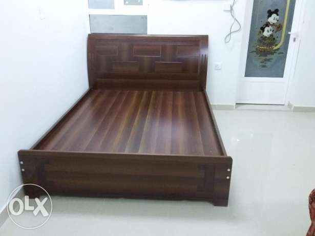 Queen size bed with Raha mattress brand new condition for sale مسقط -  1