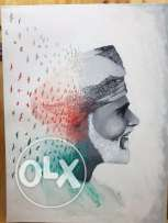 Sultanate of Oman Sultan Qaboos Oil Painting new concept Art in Canva