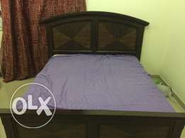 King size Cot & Cupboard