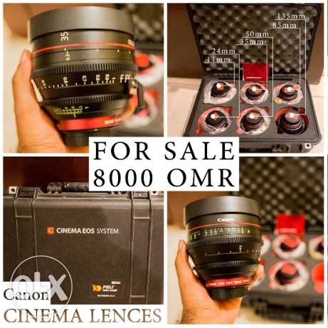 Canon EF Cinema Prime Lens Kit