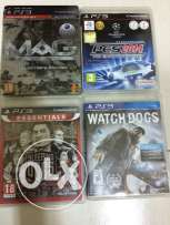 4 used videos games for sale