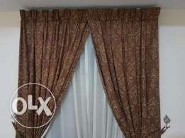 5 set curtains with inner curtains