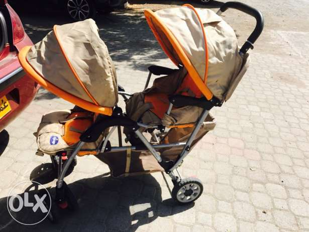 baby stroller, 2 places