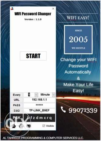 Change your WIFI Password Automatically