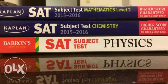 Kaplan's Maths and Chemistry, Barron's Physics for SAT 2 (one or all)