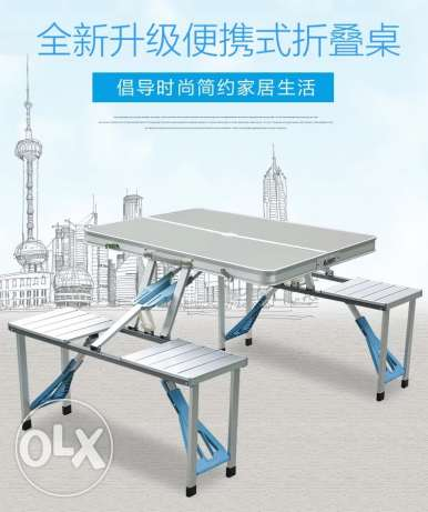 Aluminum floding table for home and outdoor activities picnic
