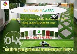Artificial Green Carpet & Rags