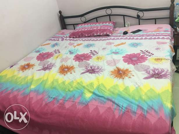 one double bed with matress for sale for omr 25 السيب -  1