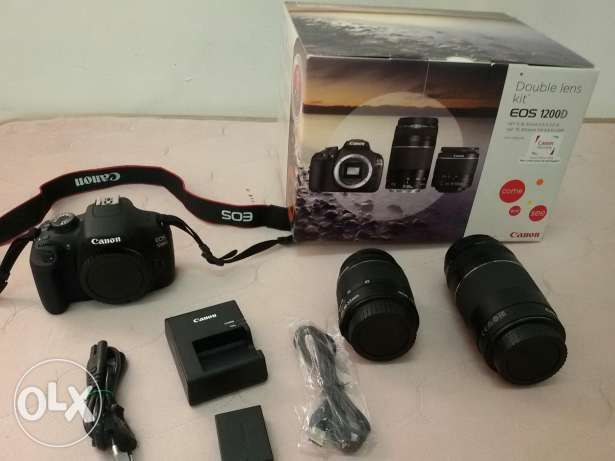 Canon 1200D with accessories