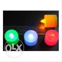 led colour changing candles- 6 cm long each with FREE battery- 6 piece