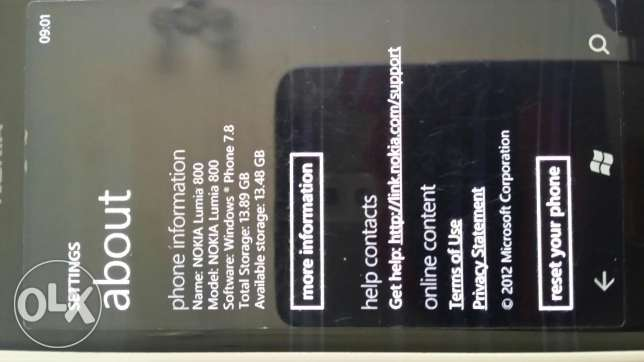 Nokia lumia 800 for sale