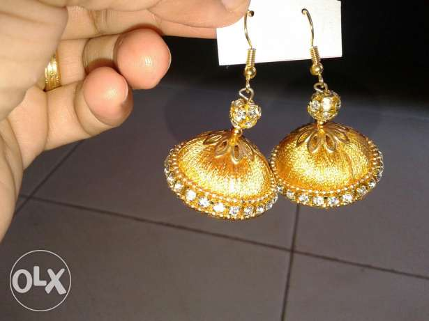 Ear rings and bangles silk thread روي -  1