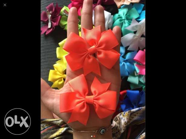 hair bow with clips
