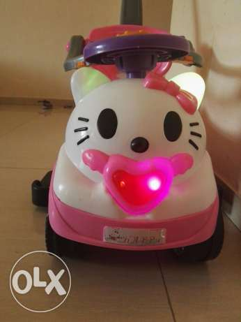 Hello kitty push car