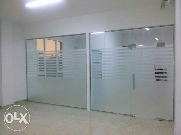 Office Glass Partition & Glass Shawer Cabins