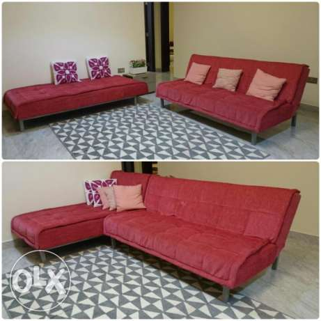 L Shaped Sofa Bed From Home R Us Muscat   Other   Image 2