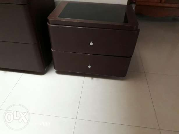 2 bedboxes with glass top.from homecentre