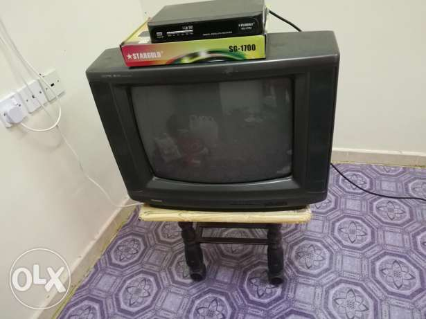 "TV 21"" with Receiver,table and LNB with cable"