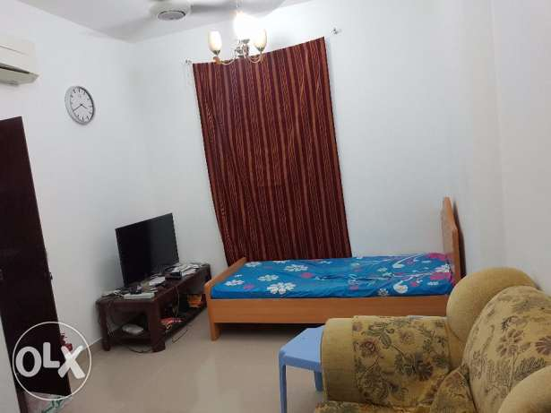 Ruwi - Separate fully furnished room with attached washroom for rent مسقط -  1