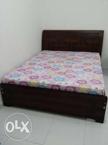 Queen size Bed with Mattress - RO - 50/- only at Darsait