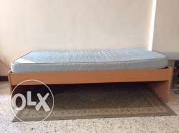 single bed with medicinal mattress