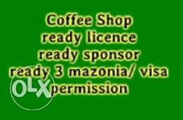 Sale of Coffee shop Licence and mazonia with sponsor