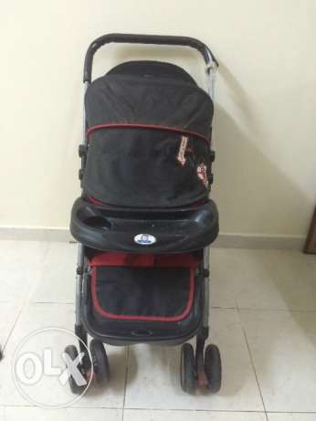 Baby land pram for sale, good condition,25 OMR. Babypotty chair 1.5 RO