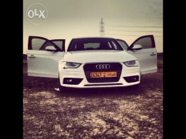 Audi A4 1.8 Turbo S-Line 1.8 Turbo S-Line 2013 model white color