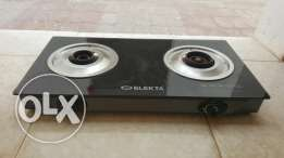 Electa glass top two burner Gas stove and cylinder