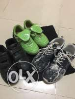 3pairs of used shoes for boys