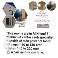 Rooms and flat for rent