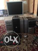 A set of computers for sale