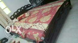 King size bed slightly damaged 15 rial only