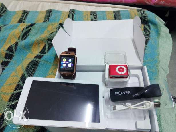 Ikontablet+smartmobile watch+ power bank+ mp3 player