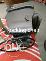 Rocking chaor with rocking stool