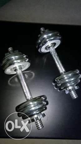 15Kgs Chrome Dumbbells set for sale