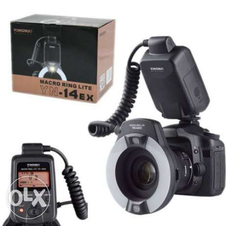 Yongnuo YN-14EX LED Flash Light with Macro Rings Adapter for Canon