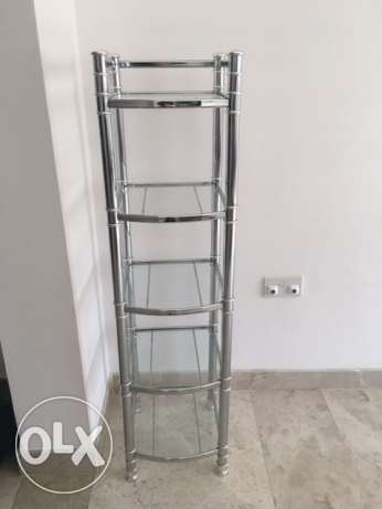 glass and silver shelfs القرم -  1