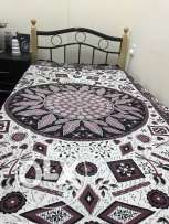 single wrought iron bed