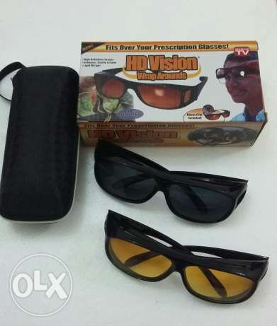 Night vishion + day vision glasses with box(suitable for gents&ladies)