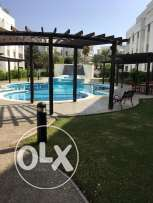 flat for rent in madinat kabous 3 bhk plus maid room and garden and po