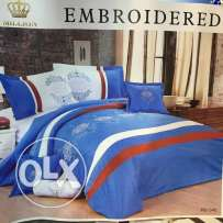 comforter set- 10 pieces- cotton with embroidery