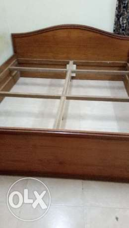 King size bed with mattress wood
